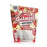 Prozis Oatmeal con Whey Protein 1000g - Cereales Repletos de Hidratos de Carbono de Alta Calidad y Fibras Saciantes -Sabor Tarta de Queso con Fresas -Apto para Vegetarianos -Cardiosaludable -12 Dosis