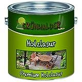 Grünwalder Holz-Lasur premium Terrassen-Ölaromatenfreie Alkydharz-Basis verhindert Verfärbungen des Holzuntergrundes schon nach dem ersten Anstrich (20 L, Ebenholz)