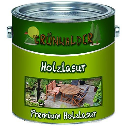 Grünwalder Holz-Lasur premium Terrassen-Ölaromatenfreie Alkydharz-Basis verhindert Verfärbungen des Holzuntergrundes schon nach dem ersten Anstrich (5 L, Farblos) -