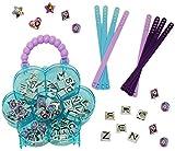 Unbekannt XL Bastelset - Armbänder & Schmuck -  Disney die Eiskönigin - Frozen  - Mädchen - Armband incl. Aufbewahrungskoffer -z.B. Schmuckbox Schmuckkästchen / Schmu..