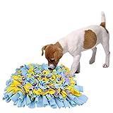 AK KYC Hunde Schnüffelteppich Schnüffelrasen Schadstofffreies Schnüffeldecke Hundespielzeug Fördert Natürliche Nahrungssuche Snuffle Matte Training Blau & Lila