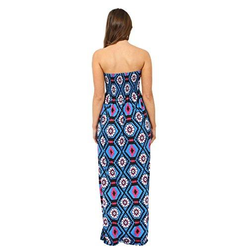 Printed Sheering mybohi lot da collezionare Boobtube Bandeau lunga estate istituzione donna maxi vestimento Tipo di tutte le taglie S/M, M/L, L/XL, XXL Blaue Box