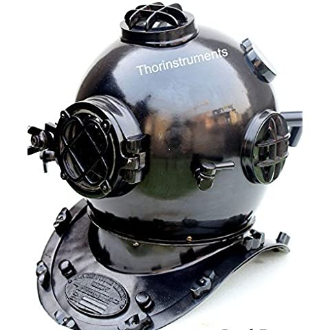 Thor Instruments.Co Diving Divers-Casco da bici, colore: nero antico & Morse U.S Navy Mark V Diving Divers-Casco in