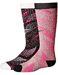 Nike 2PPK GIRL'S GRAPHIC CTN KNEE H - Chaussettes Fille, Rouge, M