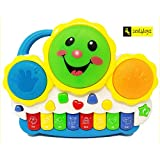 Zest 4 Toyz Drum Piano Keyboard Musical Toys With Flashing Lights, Animal Sounds & Songs - Battery Operated Kids Toys