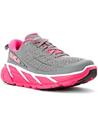 HOKA ONE ONE W CLIFTON GRISE ET ROSE Chaussures derunning femme