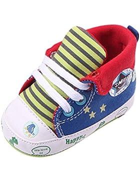 JIANGFU Neugeborenes Baby Dinosaurier Cartoon Gestreifte Schuhe Star Print Anti-Rutsch-Schuhe Sneaker, Männliche...
