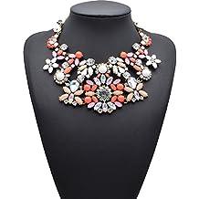 Retro Accesorios De La Joyería Collar De Aleación De Mujeres Clavícula Collar De Cristal Grande