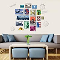 Fashion Personalized Stamp Wall Stickers For Kid Room 3d Wall Decals Wall Decoration