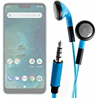 DURAGADGET Auriculares In-Ear con Luz LED Azul para Smartphone DOOGEE X55, Ulefone S8