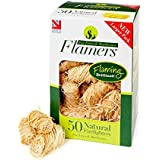 Flamers Natural Firelighters For Woodburners, Stoves, Barbeques and Campfires (50 units)