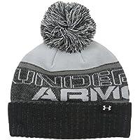 Under Armour Sportswear-Gorro con pompón juvenil, niño, Sportswear Hut Pom Beanie, negro, talla única