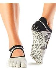 ToeSox Bella Yoga Chaussettes en coton organique avec front ouvert et orteil complet 1 Paire - Femme