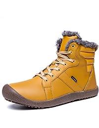 ukStore Herren Damen Winterschuhe Warm Gefüttert Winterstiefel Rutschfest Wasserdicht Schneestiefel Outdoor Winter Boots Schnür Kurz Stiefel