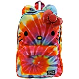 Hello Kitty Rainbow Tie Dye Colorful Canvas School Kids Backpack