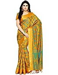 [Sponsored]Mimosa By Kupinda Women's Art Silk Saree Kanjivaram Style (Latest Designer Sarees /Party Wear Sarees /New Collection...