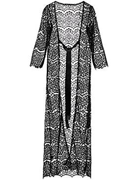 Homebaby - Copricostume Mare Donna Pizzo - Vestito Lungo Estate Pizzo Copribikini in Cotone sui Costume da Bagno...