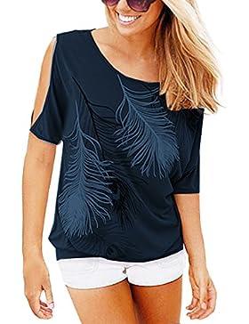 Liqy - Camiseta sin mangas - Asimétrico - para mujer