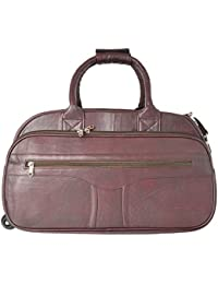 R.K. Leather Point Maroon Synthetic Leather Luggage Bag
