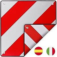 D'Avertissement Italie et l'Espagne Aluminium avec œillets réfléchissante en rouge/blanc 50x 50cm