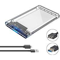 ELUTENG 2.5 Zoll HDD / SSD Festplatte Gehäuse Extern USB 3.0 Clear Festplatte Intern 9.5mm / 7mm Externe Hard Drive Enclosure Transparent SATA USB3.0 2,5 Festplattengehäuse 2139U3