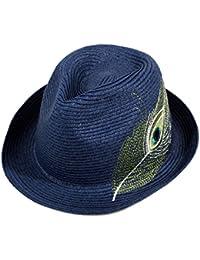 QIQI-HWM Visiera Cappello da Donna Cappello di Paglia Pieghevole Fatto A  Mano Panama Bombetta bd7d1b10be3e