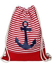 67f38f99471f4 Gym Bag Anker - Turnbeutel-Rucksack in maritimem Design für Damen