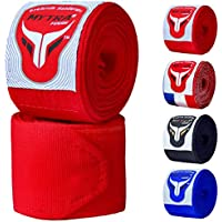 Mytra Fusion Adults Boxing Hand Wraps 3.75 Meters Gym Fitness Workout Sparring Wraps (Red)