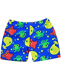 Ourhomer Toddler Baby Boys Swim Trunks Kids Summer Quick Dry Cartoon Sports Swimwear Print Stretch Swimming Pants (24M, Blue)