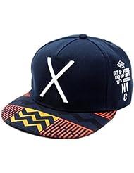 Malloom 2016 nuevo Hip-Pop letra X sombrero plano Baseball gorra hip-hop gorra