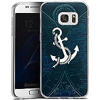 Samsung Galaxy S7 Silikon Hülle Case Schutzhülle Anker Anchor Segeln