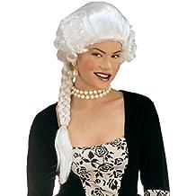 De colour blanco para mujer de estilo barroco y rococó de la peluca de la peluca
