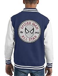Spider Man All Star Converse Logo Kid's Varsity Jacket
