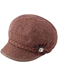 Dosige Mujer Sombrero Hongo Gorra Bombín con Visera Curvada Bowler Hat  Sombrero Boina para Cálido Gorro Tapones Hat Cap Chicas Size… dd43ab921ea