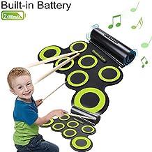 drum kit , CoastaCloud portatile Batteria elettronica con costruito in altoparlante,con bastoni,Drum Pad Kit , Regalo intrattenimento bambini Giorno dei bambini Regalo Regalo di Natale