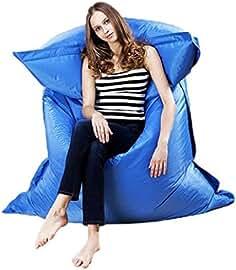 silla hinchable al aire libre Sannysis sillas gaming baratas almohada de exterior (Azul)