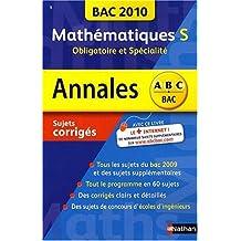 Mathématiques Tle S, obligatoire et spécialité : Sujets corrigés