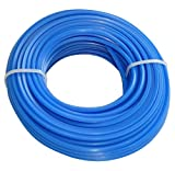 Aerzetix - Profilo quadrato filo blu di nylon 2.4mm 15m per tagliaerba taglierina trimmer decespugliatore