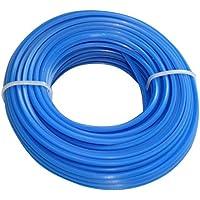 Aerzetix - Profilo quadrato filo blu di nylon 2.4mm 15m per tagliaerba taglierina trimmer decespugliatore - Utensili elettrici da giardino - Confronta prezzi