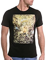 Sixth June - Tee shirt noir avec motifs