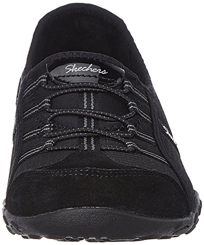 Skechers Breathe-easy allure, Baskets Basses femme Noir - Noir
