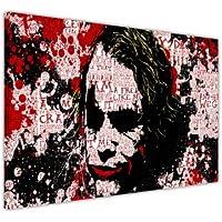 """Cuadro con diseño de El Joker de Batman Dark Knight, estilo collage con frases famosas, lona madera, 9- A0 - 40"""" X 30"""" (101CM X 76CM)"""
