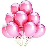 Vercrown 100 Pcs Rose Ballons de Fête de Couleur pour Fête, D'anniversaire, Mariage anniversaire de boules de d écoration de noël 10 Pouce 1.8g Ballons en Latex...