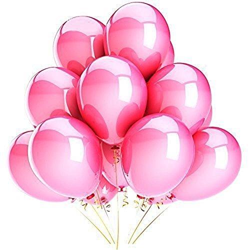 Vercrown 100 pcs Rosa Latex Luftballons, 10 Zoll 1.8g Partyballon, Dick Ballons für Halloween, Weihnachten, Geburtstagsfeiern, Party, Hochzeitsfeiern,Jubiläum und neue Jahre
