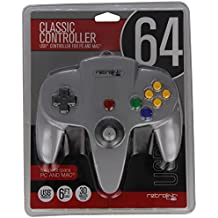Retro-bit - N64 -892 N64 Wired controlador USB para PC y Mac - gris