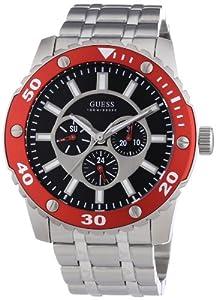 Reloj Guess W0179G1 de cuarzo para hombre con correa de acero inoxidable, color plateado de Guess