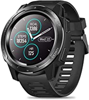 Zeblaze VIBE 5 Rugged Smart Watch, IP67 Waterproof, 1.3 Inch IPS Color Screen, Heart Rate Monitor Pedometer Fitness Tracker