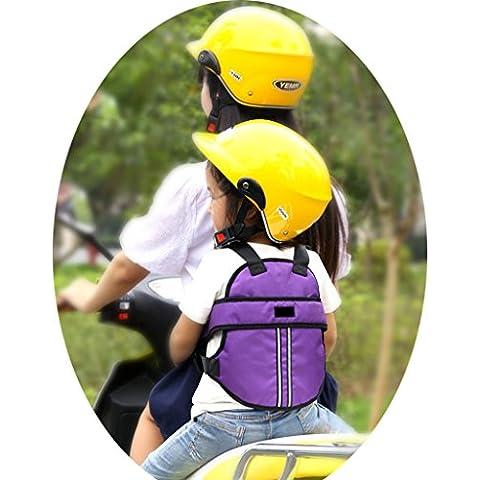 Vine Niño Arneses de seguridad Niños Portador Correa de Cinturón de Seguridad reflectante ajustable de Asiento con Hebillas para Vehículo Eléctrico Moto