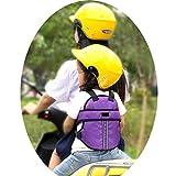 Vine Kinder Einstellbar Motorrad-Gurt Kinder Sicherheitsgurt für Motorrad Kinder Gurte für Elektro-Auto/Fahrrad (Lila)