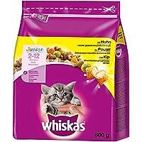 Whiskas Katzenfutter Trockenfutter Junior <1 für Kätzchen/Kitten mit Huhn, 5 Beutel (5 x 800g)